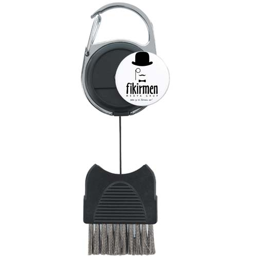 Golf Club Brush with Removable Ball Marker Image 2