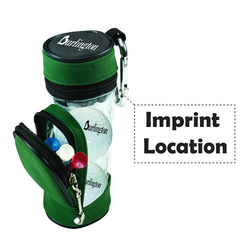 Portable Metal Carabiner Golf Bag Imprint Image