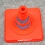 Reflective Folding Road Cone With Top Light Image 2