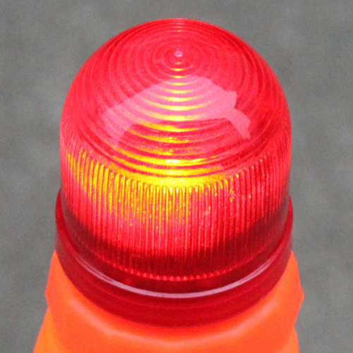 Reflective Folding Road Cone With Top Light Image 4