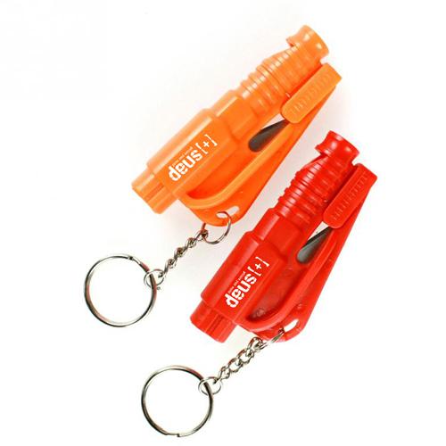 Emergency 3 In 1 Mini Car Window Breaker Keychain Image 2