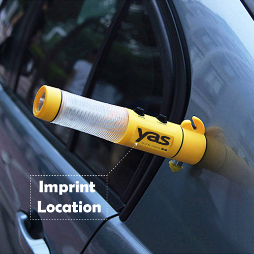 Seat Belt Cutter LED Light Hammer Imprint Image