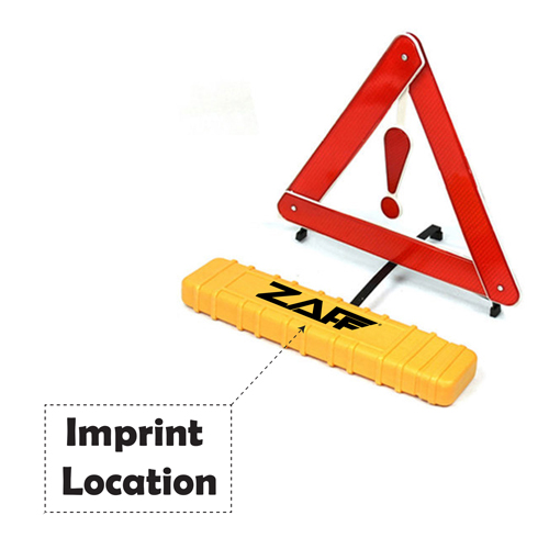 Car Breakdown Tripod Warning Sign Imprint Image