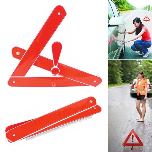 Automobile Foldable Reflective Triangle Warning Sign