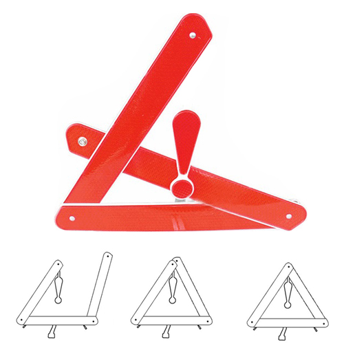 Automobile Foldable Reflective Triangle Warning Sign Image 1