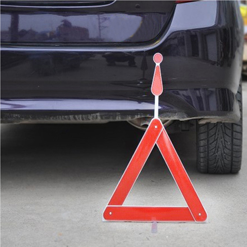 Automobile Foldable Reflective Triangle Warning Sign Image 3
