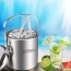 Double Wall Stainless Steel Ice Bucket With Tweezers Image 2