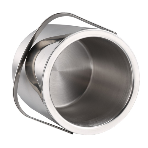 Double Wall Stainless Steel Ice Bucket With Tweezers Image 4