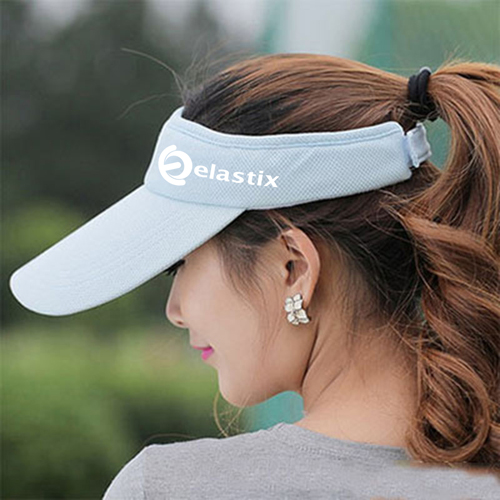 Unisex Cotton Sports Visor Cap Image 3
