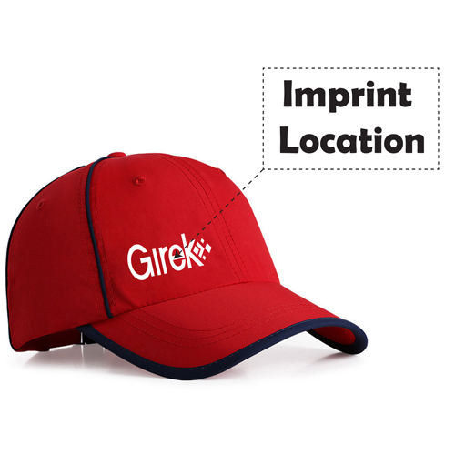 Fashion Summer Sports Peak Trim Cap Imprint Image