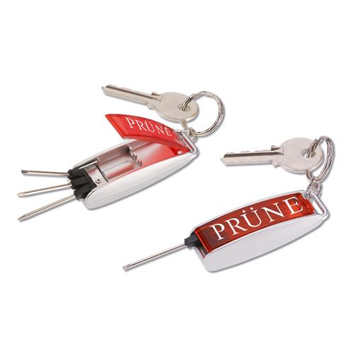 Mini Lighted Screwdriver Repair Kit Keychain