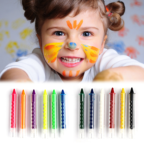 Face Body Painting Kids Crayon Kit