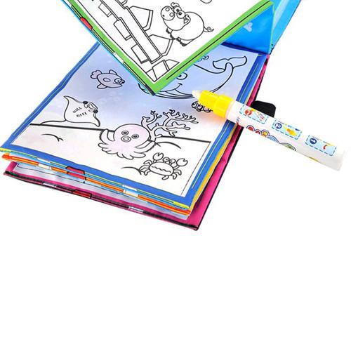 Kids Magic Water Drawing Book and Magic Pen