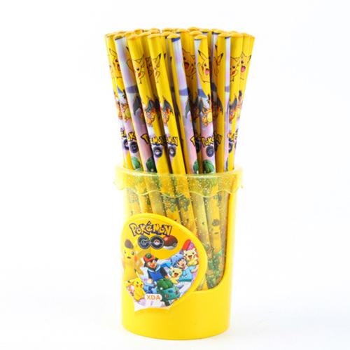 Childrens Wood Pencil with Ruler Eraser Set Image 1