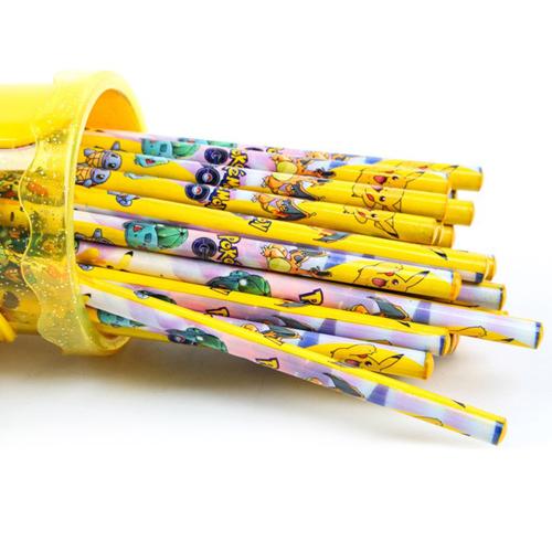 Childrens Wood Pencil with Ruler Eraser Set Image 2