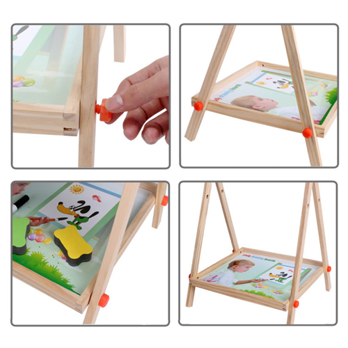 Double Sided Wooden Magnetic Drawing Board Image 2