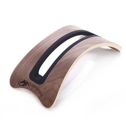 Vertical Wooden Curved Base Laptop Stand