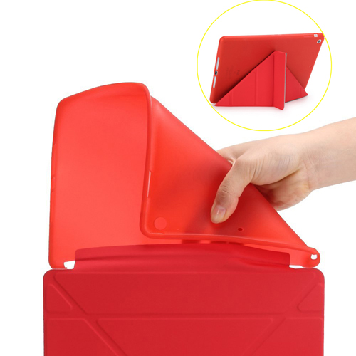 Soft Silicone Leather Smart Stand Case Image 1