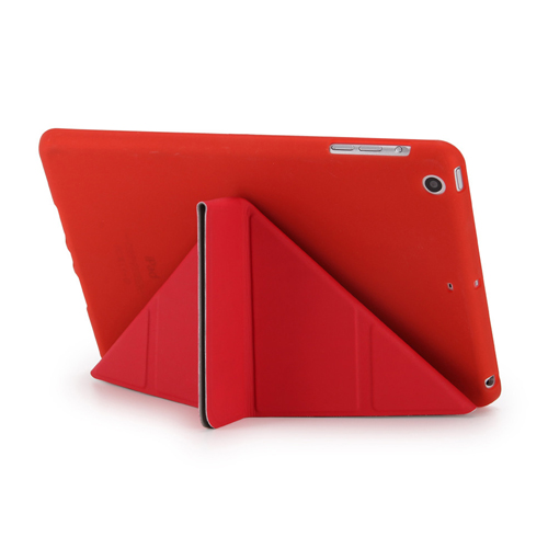 Soft Silicone Leather Smart Stand Case Image 4