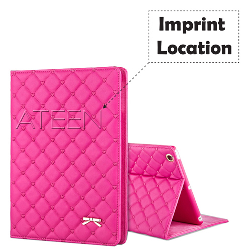 Mini iPad Bowknot Leather Smart Cover Stand Imprint Image