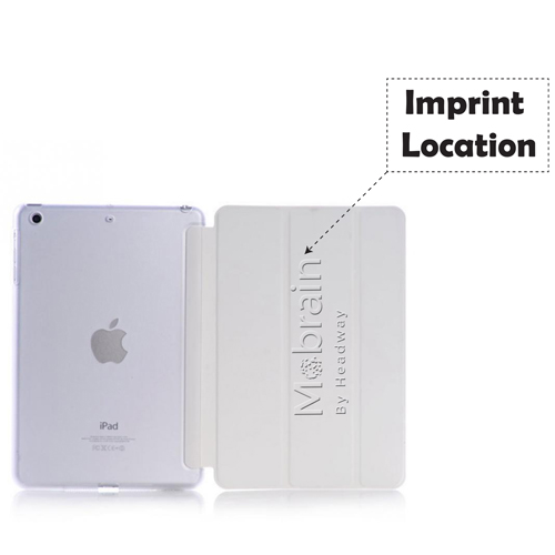 Wake-Up Stand Fold Leather Case Imprint Image