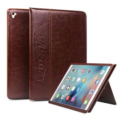 Slim Leather Handstrap Case With Folding Stand