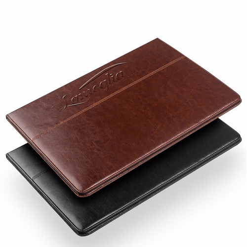 Slim Leather Handstrap Case With Folding Stand Image 1