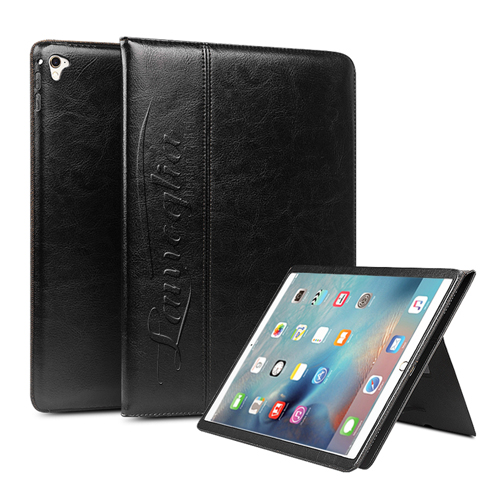 Slim Leather Handstrap Case With Folding Stand Image 4