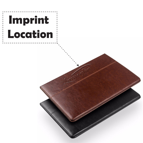 Slim Leather Handstrap Case With Folding Stand Imprint Image