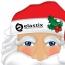 Custom Santa Mask With Elastic Band Image 1