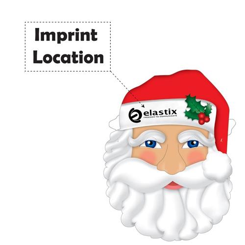 Custom Santa Mask With Elastic Band Imprint Image