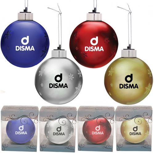 Round Light-Up Glass Ornament