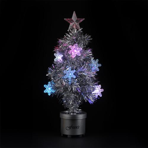 Silver Light Up Tree Image 1