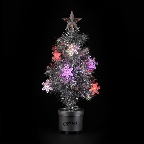 Silver Light Up Tree Image 2