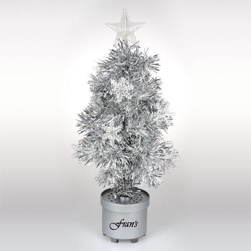 Silver Light Up Tree Image 3