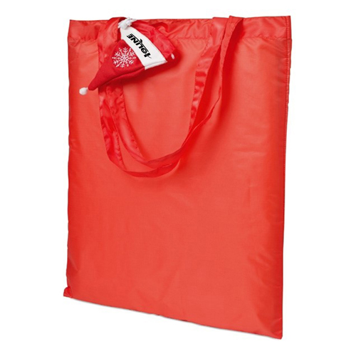 Foldable Shopping Bag In Mini Christmas Hat