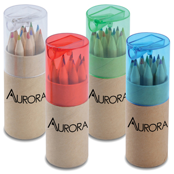 Coloured Pencil Tube With Sharpener