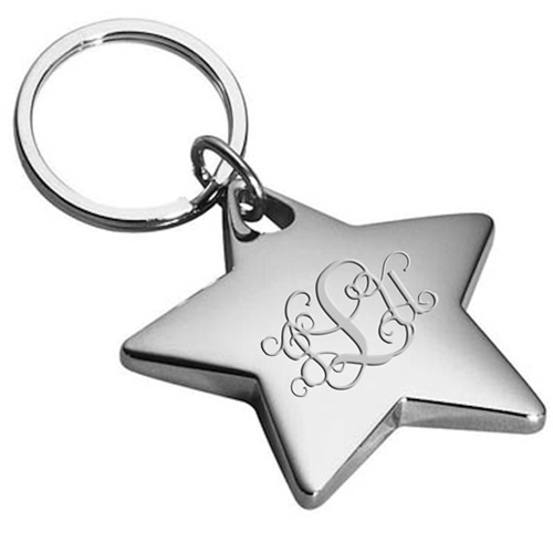 Star Shaped Metal Keychain Image 1