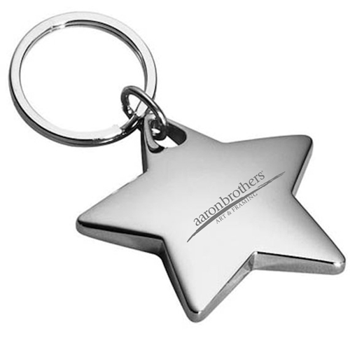 Star Shaped Metal Keychain Image 3