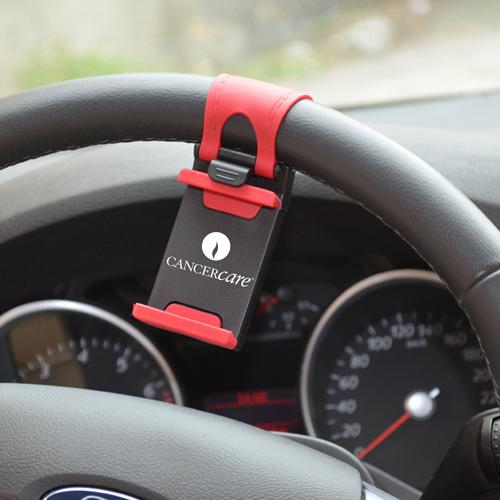 Steering Wheel Mount Phone Holder Image 3