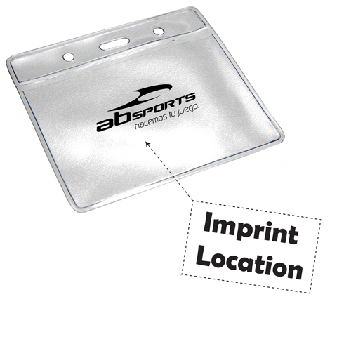 Soft Vinyl Landscape ID Card Holder Imprint Image