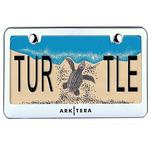 Chrome Stainless Steel License Plate Frame Image 1