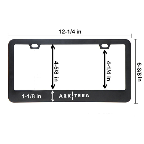 Chrome Stainless Steel License Plate Frame Image 2