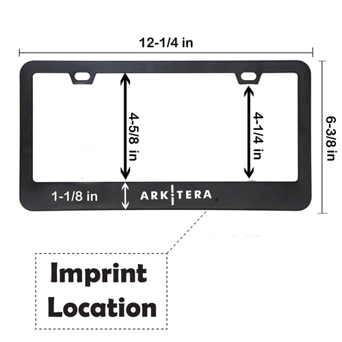 Chrome Stainless Steel License Plate Frame Imprint Image