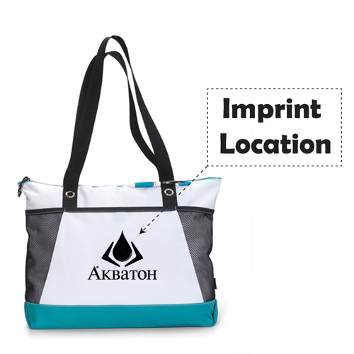 Venture Polyester Tote Bag Imprint Image
