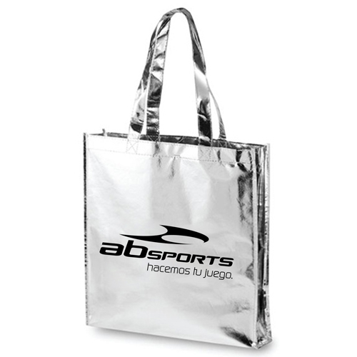 Laminated Metallic Tote Bag With Handle