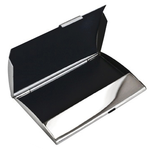 Curve Nickel Plated Card Holder