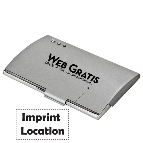Curve Nickel Plated Card Holder Imprint Image