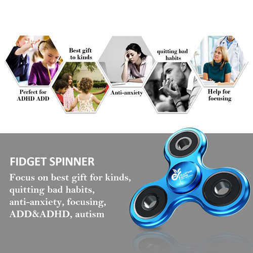 Custom Metal Aluminum Fidget Spinner Image 6