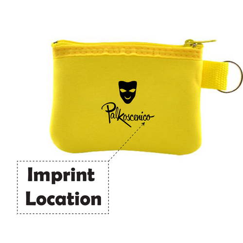 Taft Zip Coin Pouch With Key Holder Imprint Image